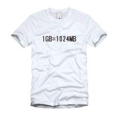 1GB=1024MB Tシャツ
