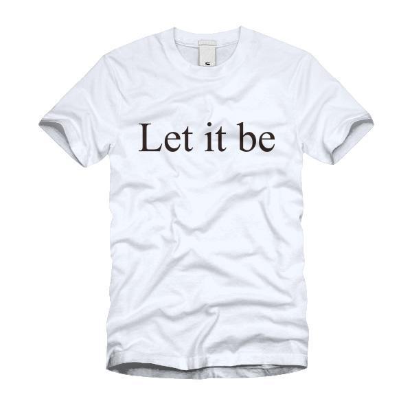 Let it be Tシャツ